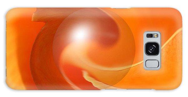 Hot Orange Globe Galaxy Case
