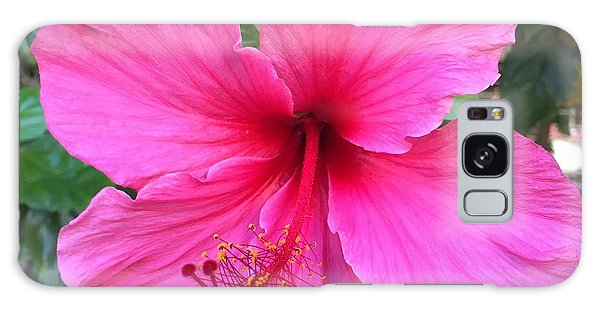 Hot Pink Hibiscus  Galaxy Case by Russell Keating