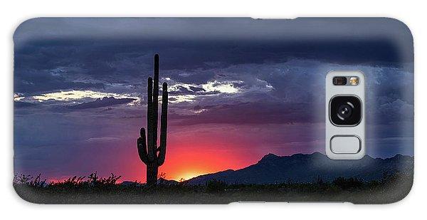 Galaxy Case featuring the photograph Hot Pink Saguaro Sunset  by Saija Lehtonen