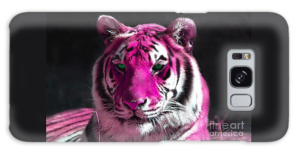 Hot Pink Tiger Galaxy Case by Rebecca Margraf