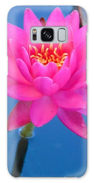 Hot Pink Water Lily Galaxy Case