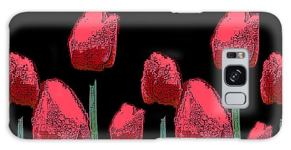 Hot Red Tulips Galaxy Case