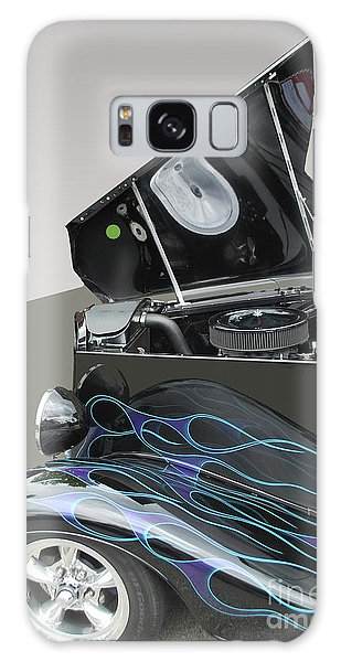 Galaxy Case featuring the photograph Hot Rod With Flames by Bill Thomson