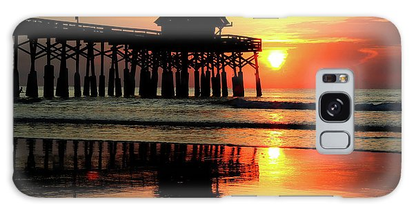 Hot Sunrise Over Cocoa Beach Pier  Galaxy Case