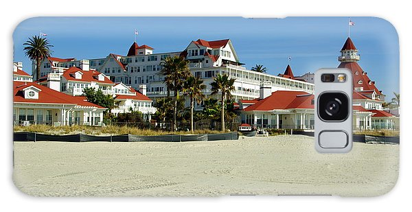 Hotel Del Coronado Beach Galaxy Case by Jeff Lowe