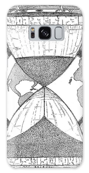 Pen And Ink Drawing Galaxy Case - Hourglass by Glenn McCarthy Art and Photography