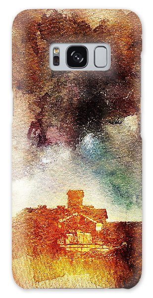 House And Night Galaxy Case by Andrea Barbieri