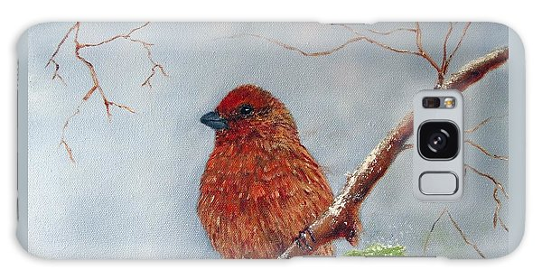 House Finch In Winter Galaxy Case