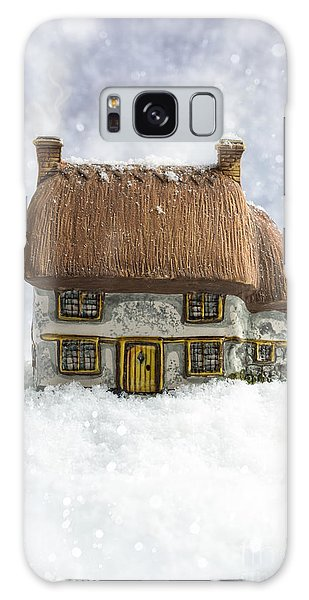 Cottage Galaxy Case - House In Snow by Amanda Elwell