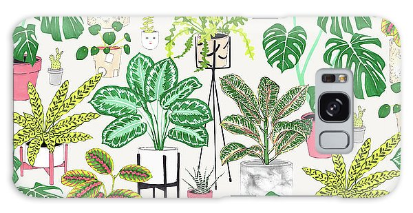 Repeat Galaxy Case - House Plants by Jacqueline Colley