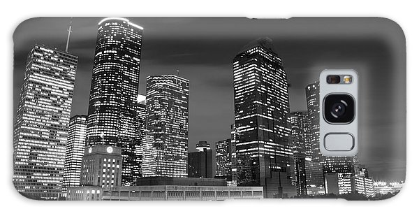 Houston By Night In Black And White Galaxy Case