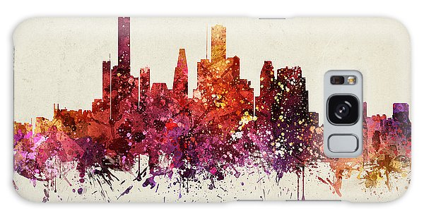 Colours Galaxy Case - Houston Cityscape 09 by Aged Pixel