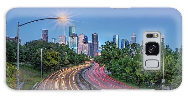 Houston Evening Cityscape Galaxy Case