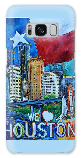 Houston Montage Galaxy Case by Patti Schermerhorn