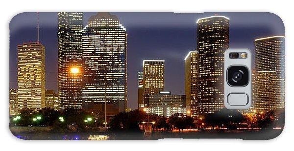 Texas Galaxy Case - Houston Skyline At Night by Jon Holiday