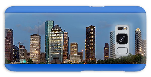 Houston Skyline Panorama Galaxy Case by Jonathan Davison