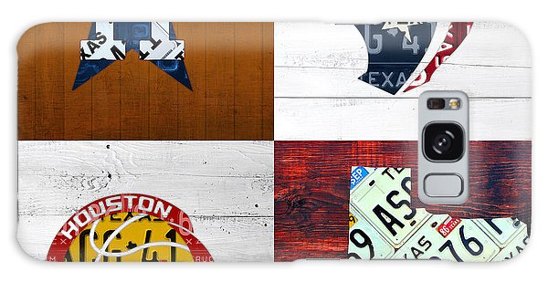 Recycle Galaxy Case - Houston Sports Fan Recycled Vintage Texas License Plate Art Astros Texans Rockets And State Map by Design Turnpike