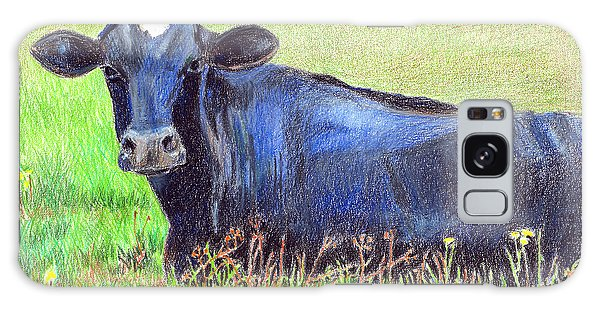 Pasture Galaxy Case - How Now Blue Cow by Arline Wagner