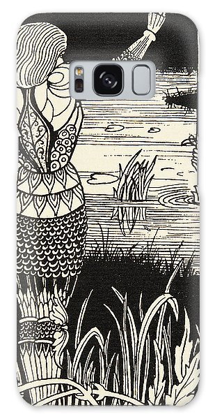Folklore Galaxy Case - How Sir Bedivere Cast The Sword Excalibur Into The Water by Aubrey Beardsley