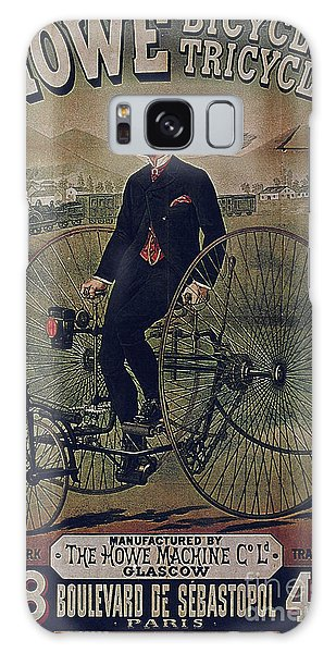 Howe Bicycles Tricycles Vintage Cycle Poster Galaxy Case