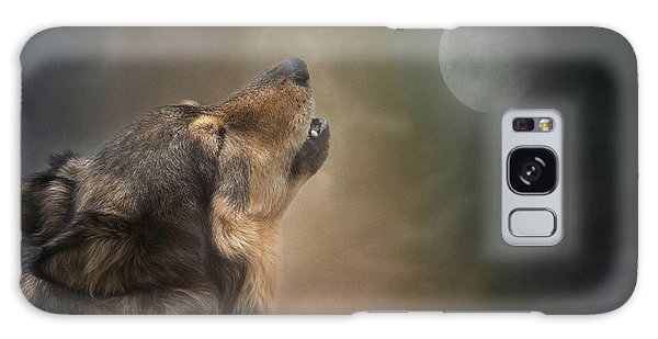 Galaxy Case featuring the digital art Howling At The Moon by Nicole Wilde