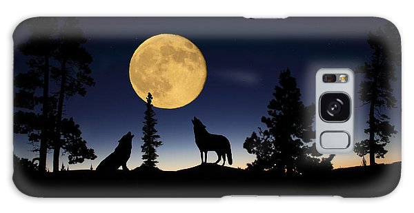 Howling At The Moon Galaxy Case
