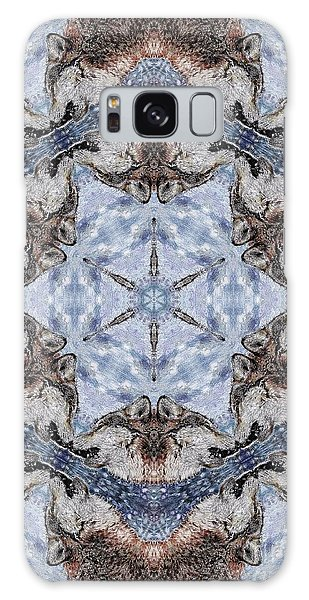 Galaxy Case - Howling Gray Wolf Kaleidoscope by J McCombie