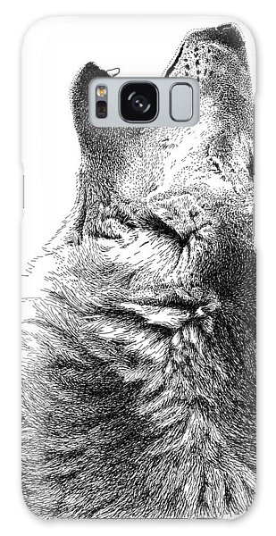 Howling Timber Wolf Galaxy Case