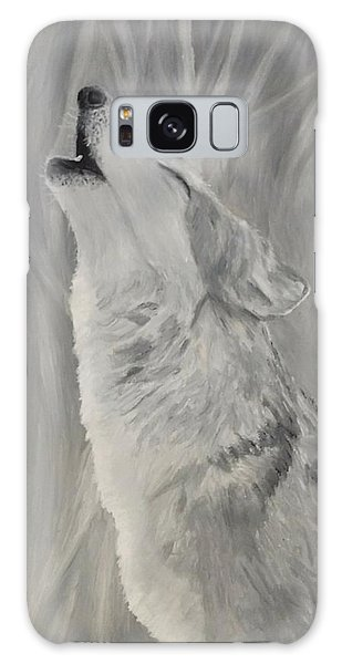 Galaxy Case featuring the painting Howling Wolf by Kevin Daly