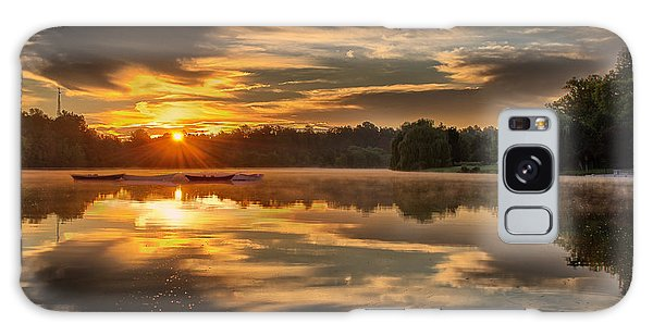 Hoyt Lake Sunrise - Square Galaxy Case