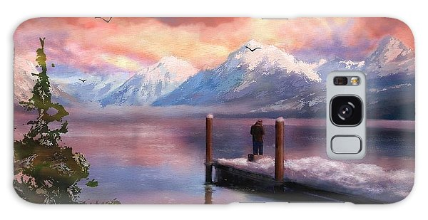 Hudson Bay Winter Fishing Galaxy Case by Judy Filarecki