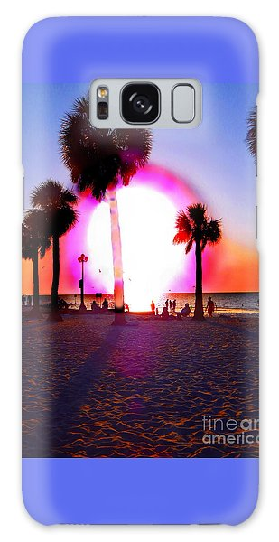 Huge Sun Pine Island Sunset  Galaxy Case by Expressionistart studio Priscilla Batzell