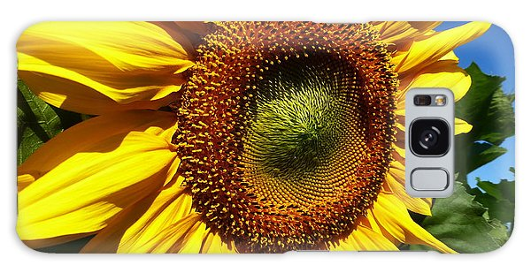 Huge Bright Yellow Sunflower Galaxy Case