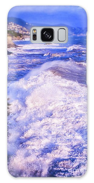Galaxy Case featuring the photograph Huge Wave In Ligurian Sea by Silvia Ganora