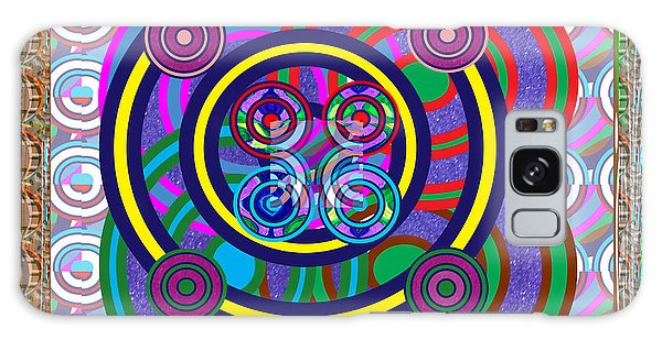 Hula Hoop Circles Tubes Girls Games Abstract Colorful Wallart Interior Decorations Artwork By Navinj Galaxy Case