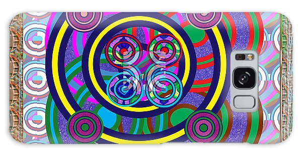 Hula Hoop Circles Tubes Girls Games Abstract Colorful Wallart Interior Decorations Artwork By Navinj Galaxy Case by Navin Joshi