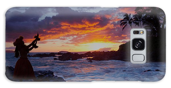 Hula Sunset Galaxy Case by James Roemmling