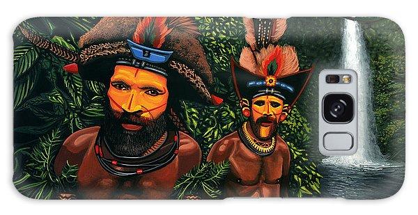 Scenery Galaxy Case - Huli Men In The Jungle Of Papua New Guinea by Paul Meijering