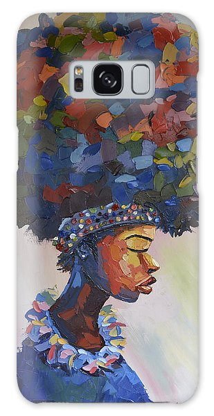 50d6e7e12 Galaxy Case featuring the painting Human Race by Nefe Ogodo