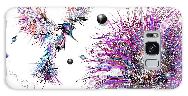Galaxy Case featuring the digital art Humming Bird And Flower by Darren Cannell