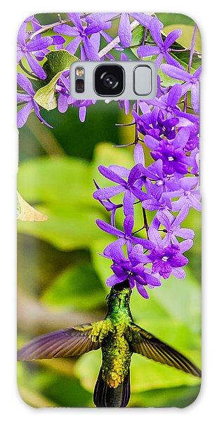 Humming Bird Flowers Galaxy Case