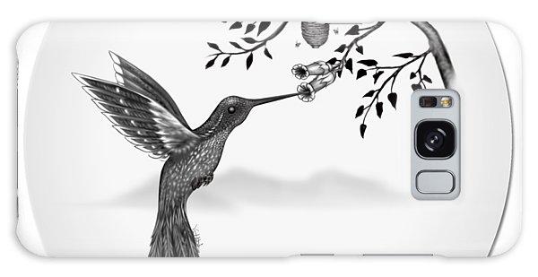Humming Bird On Oval Galaxy Case