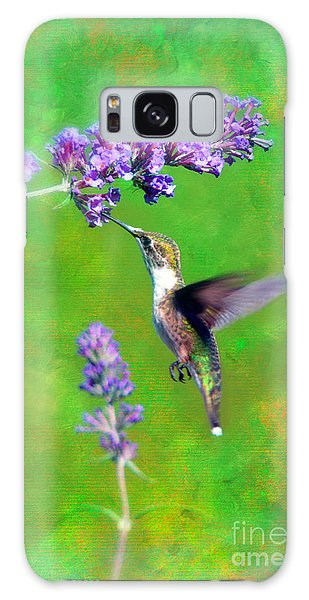 Humming Bird Visit Galaxy Case by Lila Fisher-Wenzel