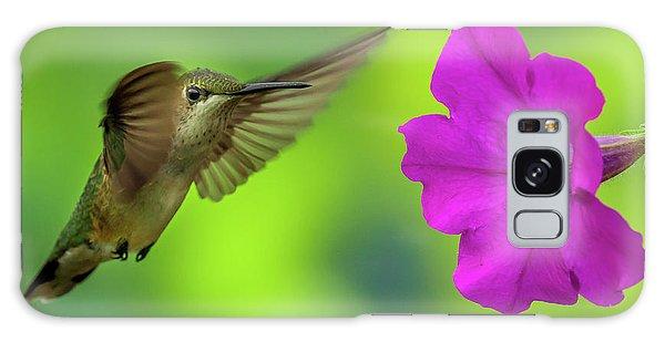 Hummingbird And Flower Galaxy Case