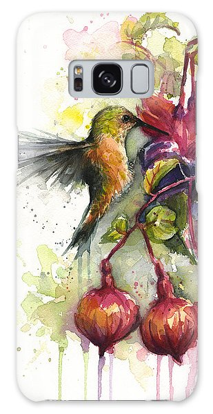 Hummingbird And Fuchsia Galaxy Case