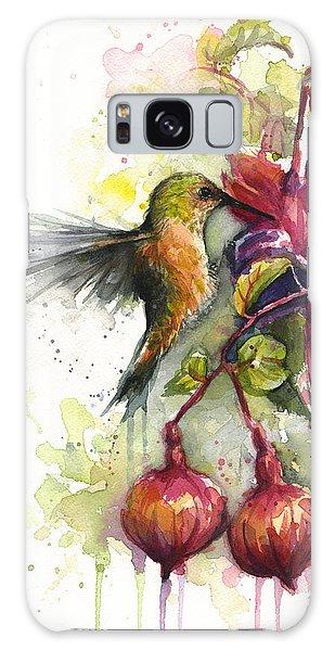 Hummingbird Galaxy S8 Case - Hummingbird And Fuchsia by Olga Shvartsur