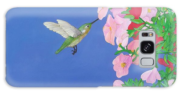 Hummingbird And Petunias Galaxy Case