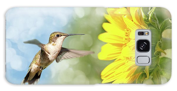 Hummingbird And Sunflower Galaxy Case