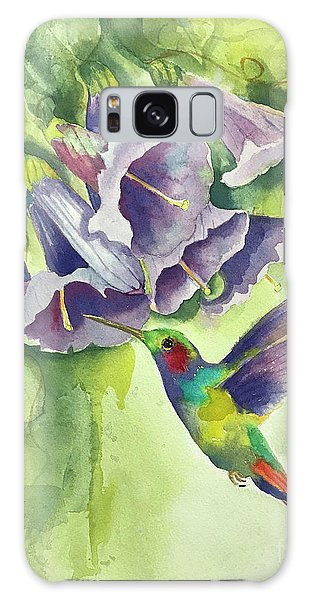 Hummingbird And Trumpets Galaxy Case
