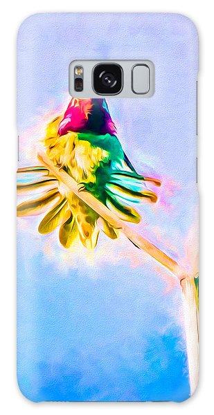Galaxy Case featuring the mixed media Hummingbird Art - Energy Glow by Priya Ghose